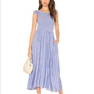 NWOT FREE PEOPLE Chambray Butterflies Maxi Midi!!
